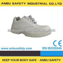 oil resistant lightweight steel toe food factory chemical industry white safety shoes