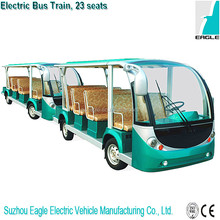 full electric mini bus train four wheel trailer vehicle for sightseeing,EG6118TB