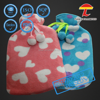 heart Valentines gift plush animals hot water bottle cover