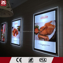 Wholesale Restaurant Wire Hanging Super Acrylic LED Slim Light Box Menu Boards