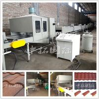 Color stone coated steel roofing making machine, stone coated metal roof tile machine