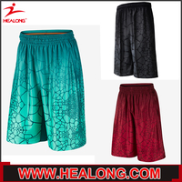 Sublimation Custom Basketball Uniforms Training Shorts Any Logo Any Design Any Polyester Shorts