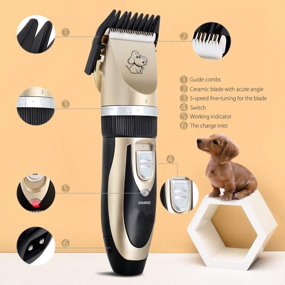 2017 Hot Wholesale Cheap Animal Hair Trimmer Shaver Razor machine set kit dog pet grooming clippers tool