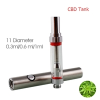 Metal vape glass ecig tank 510 empty cotton wick cbd oil glass cartridge