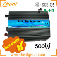 2014 Global hot sales solar grid tie inverters 500w (Input DC 10.5-28V) with best quality
