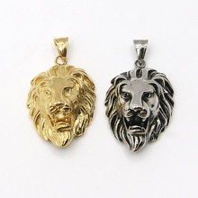 Factory Bulk Sale custom stainless steel lion head pendant