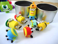 Hot sale New pen drive cartoon minions/toy model usb 2.0 memory flash stick Drive