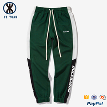 color blocking printing stripe European style mens sweat pants jogger