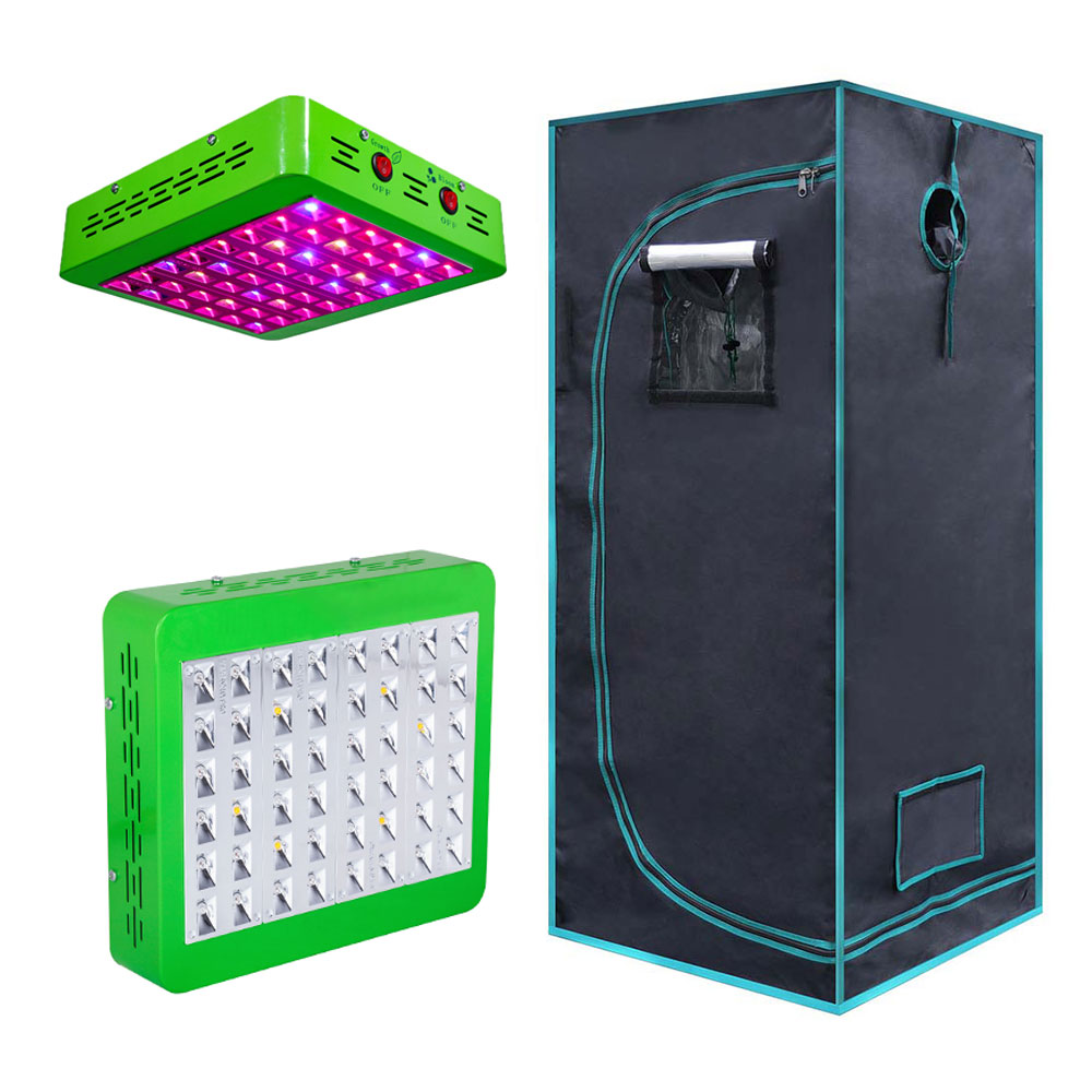 Professional Chinese Led Grow Light <strong>Manufacturer</strong> Hydroponic Metal Corner Grow Tent Complete Kit