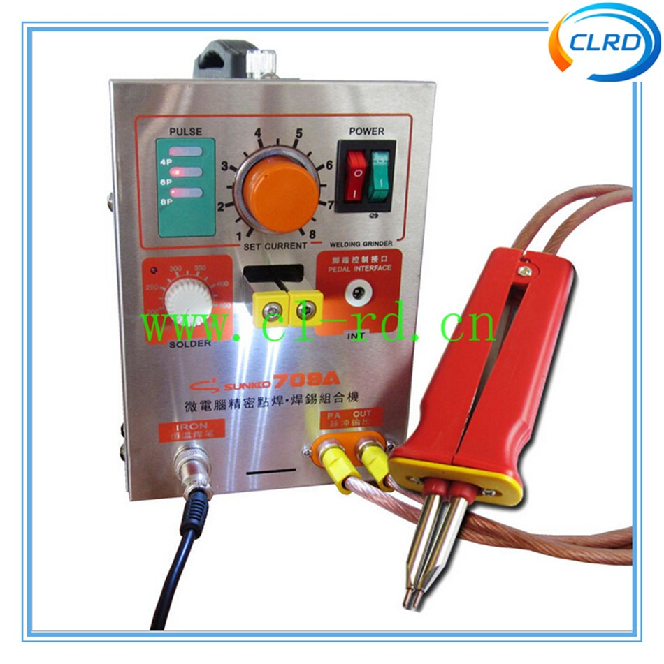 1.9kw LED Pulse Battery Spot Welder 709A with Soldering Iron Station Spot Welding Machine for 18650 16430 14500 battery pack