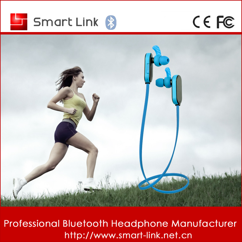 Sports Wireless Bluetooth Headset for iPhone5s 5c 5 4 4G 4S 3G S HTC i9100 S2 Red BT03