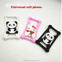 Factory Supply mobile cover cartoon frame silicone rubber bumper cell phone case