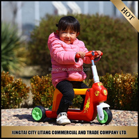 High quality three wheel kids kick scooter cheap iron plate child scooter