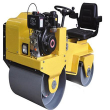 ride on diesel engine road roller 1 ton/double drum vibratory roller