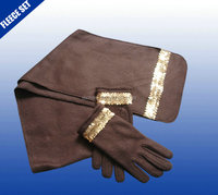 Customized Colors and Designs polar fleece scarf/hat/gloves