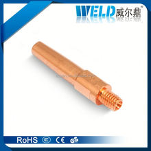 Contact Tip of Panasonic Welding Torch P350 with Welding Consumables