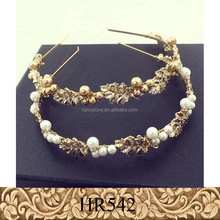 High quality metal baroque leaf and pearl romantic bridal wedding <strong>hair</strong> <strong>accessories</strong>