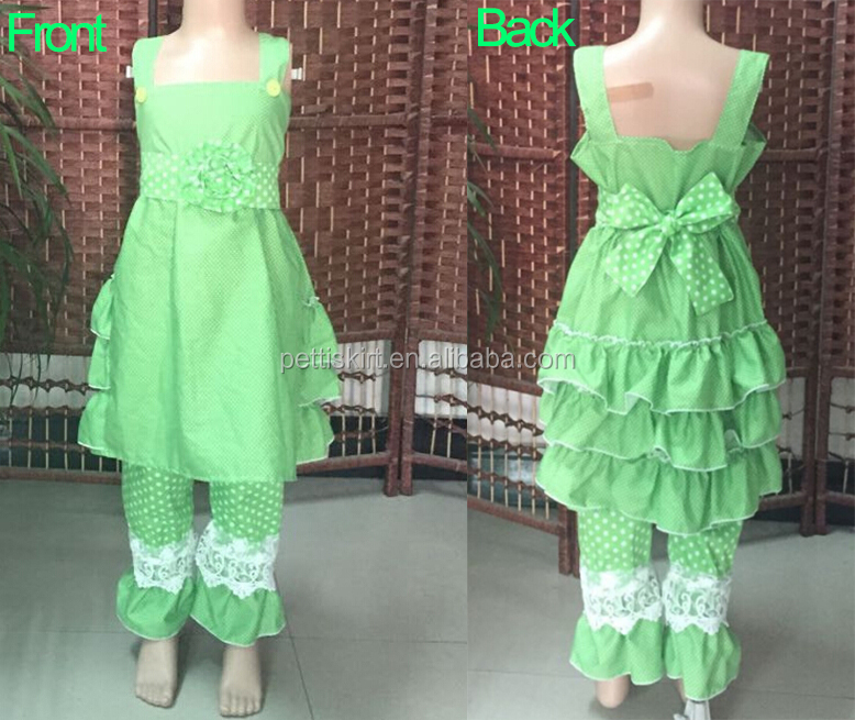 Latest Children's Boutique Ruffle Clothing Sets Korean Teen Girls Outfit Boutique