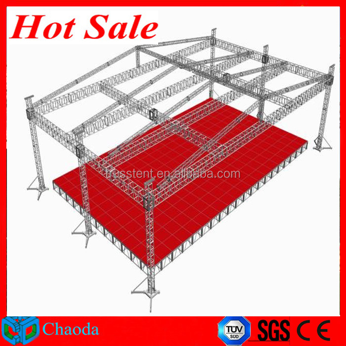 Hot sale Guangzhou China Cheap CE,SGS ,TUV cetificited Cheap aluminium stage spigot truss stadium truss