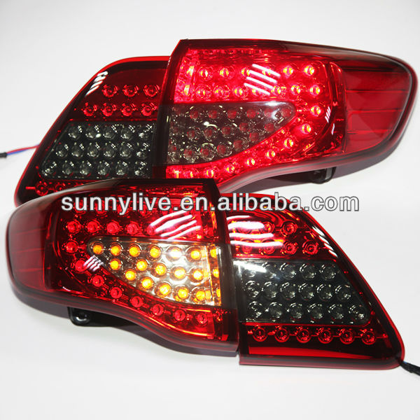 For TOYOTA Corolla Altis LED Tail Lamp 2008-10 Year Red Black Color YZV1