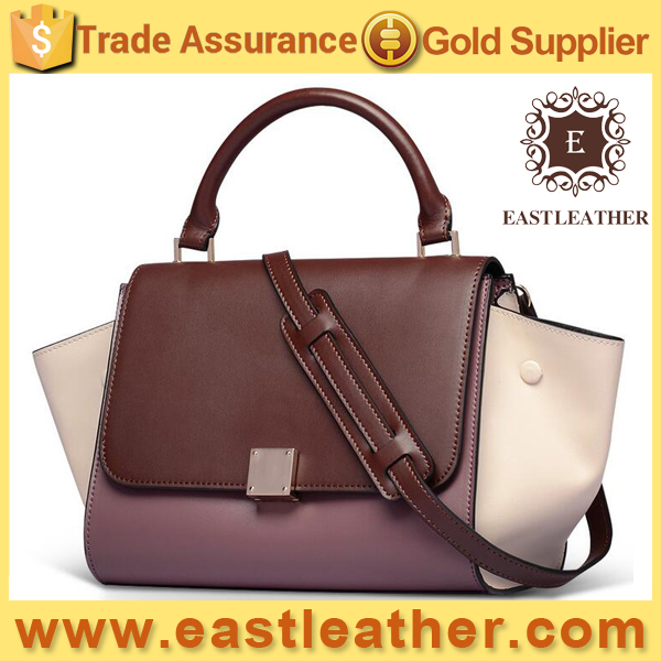 GL867 newest bat shape genuine leather lady tote bag