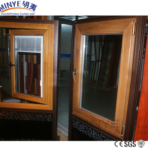 aluminum cladding wood Radius window/round window with grill design
