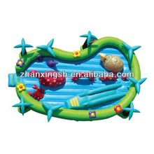 2014 shanghai zhanxing hot sale cheap durable funny kids inflatable play pool for kids