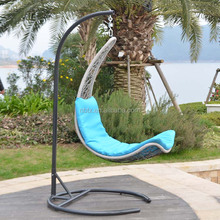 High quality good price Unique outdoor round egg rattan chair swing