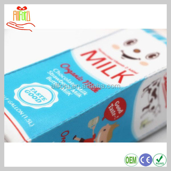 Notely stationery milk theme pencil case for students, milk box pen bag, PU storage stationery case pencil box