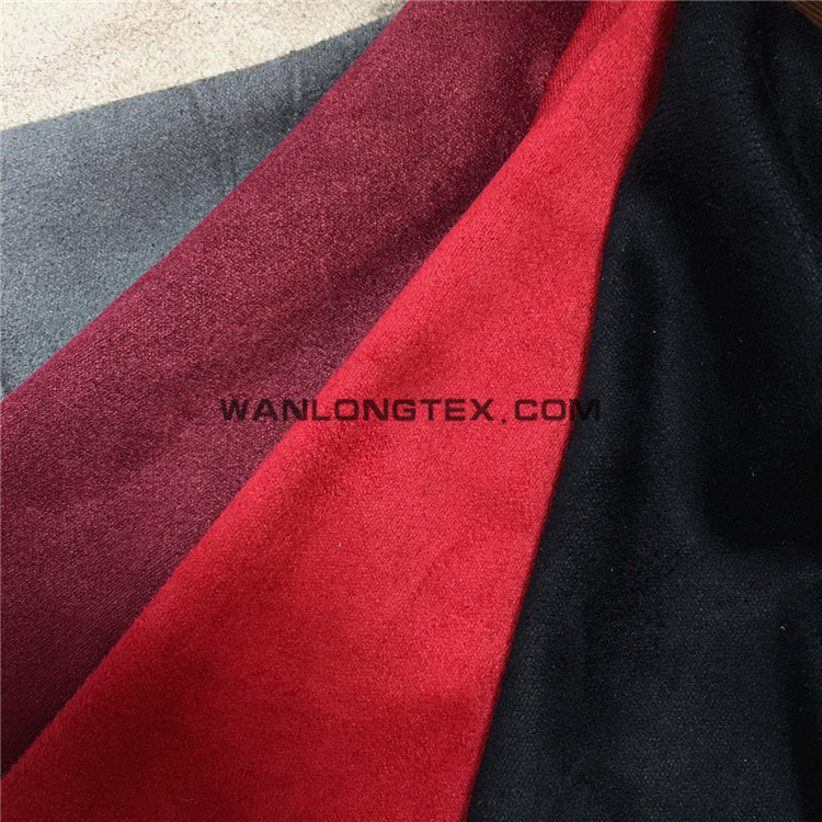 Micro Suede spandex fabric for <strong>fashion</strong> lady's coat