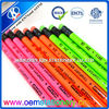 7'' colour wooden pencil/hb wooden pencil with eraser /fluorescent colored pencil