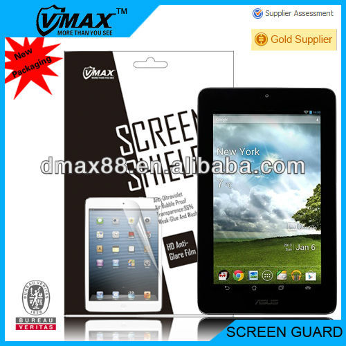 Tablet tft screen guard for ASUS FONE PAD 7 oem/odm (Anti-Glare)