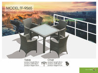 TF-9565 Hot Sale outdoor rattan dining set, wicker table and chair