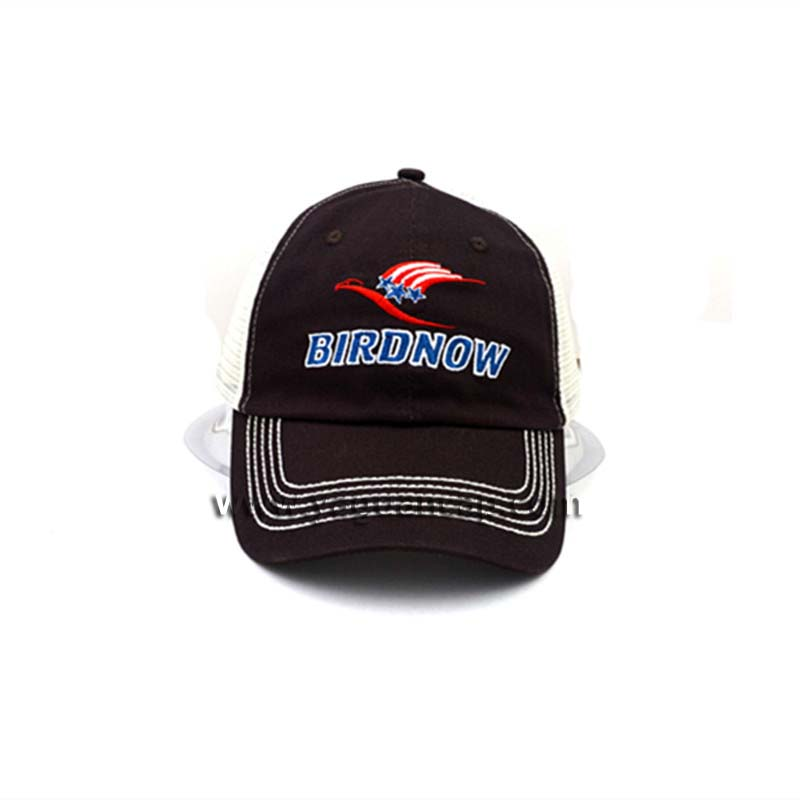 promotion mesh cap embroidery trucker hats magic buckle