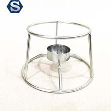 Metal stainless steel candle holder, heating bracket used in cafeteria restaurant