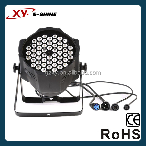 China supplier white light or par64 led lighting lamp or RGBW 54*3w led par