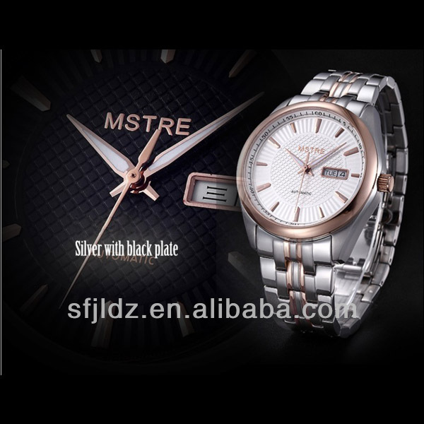 Stainless steel Automatic mechanical watches men trendy gift watch man