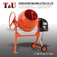 130L plastic motor concrete mixer with CE