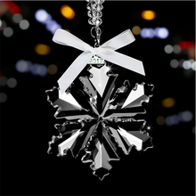 Blank Crystal Christmas Ornament Snowflake Glass Ornament
