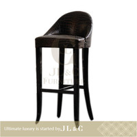 Latest design french style solid wood antique dining chairs-JC01-09 bar stools high chair- JL&C Furniture