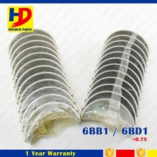 Main Bearing And Con Rod Bearing 0.75 6BB1 6BD1 For Excavator Diesel Engine Parts