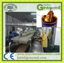 Automatic canned tuna fish processing plant / tuna fish processing machine