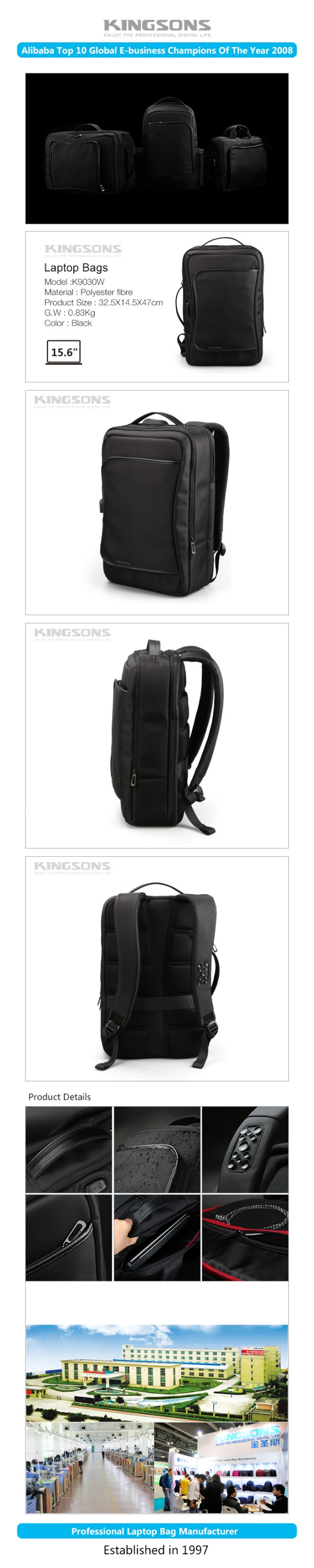 2017 New fashion backpack Wholesale OEM fashion backpack manufacturers china