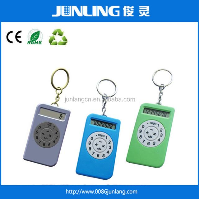mini pocket calculator 8 digit fanny phone case with key ring calculator