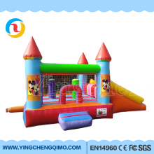 HI 0.55mm PVC high quality inflatable bouncy castles , kids inflatable bounce bed , moon bounce for sale
