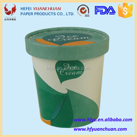 Disposable ice cream paper cup suitable for freezer