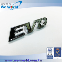 Absolute quality custom made chrome finish metal car badges emblems