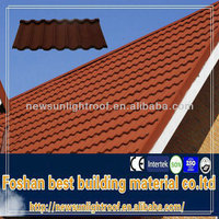 High quality 1340*420 mm plastic building materials laminate roof/0.4mm thickness Nigeria hot sell cheap roofing shingles