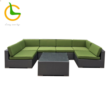 Best 7 piece rattan wicker outdoor sectional sofa