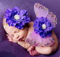 2016 popular boutique new born baby wings and flowers and headband sets photography props